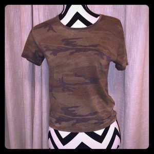 Cute and Casual Camo top!